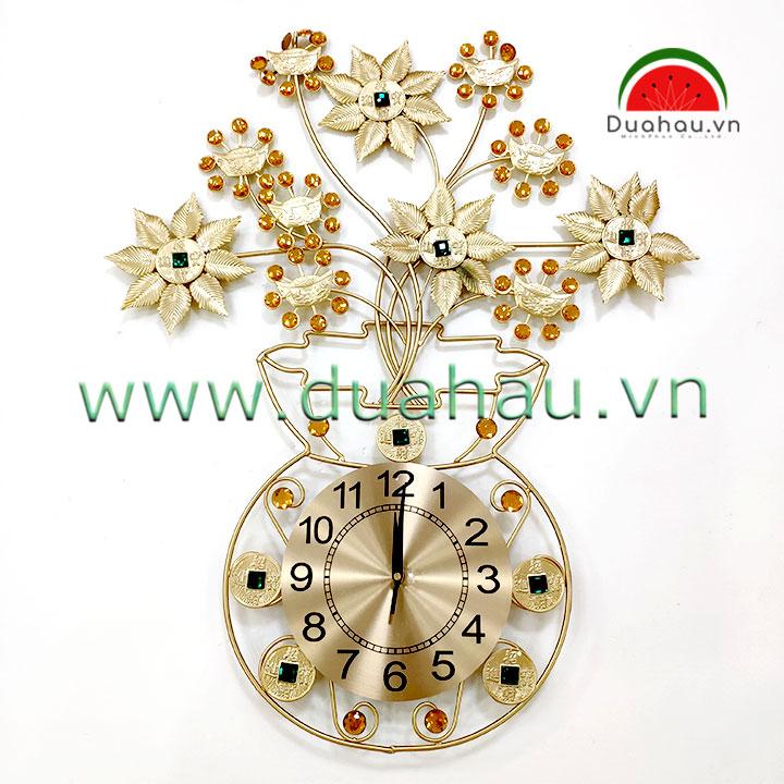 Đồng hồ 75B01 Bình Tiền hút Tài Lộc 75X59cm