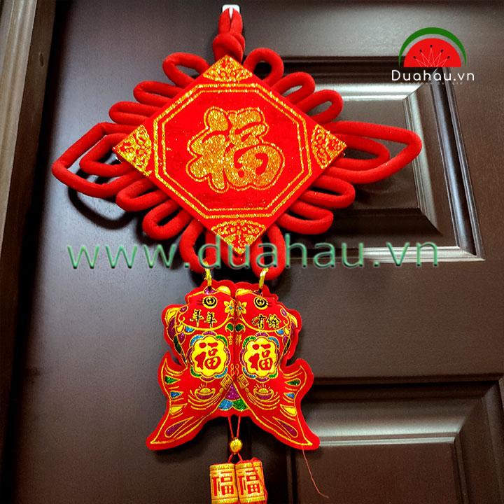 Khánh Đỏ  #15 PHÚC VÀNG NHƯ Ý 32x75cm